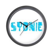 Sydnie Faded (Blue) Wall Clock