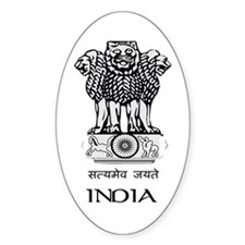 Emblem of India Oval Decal