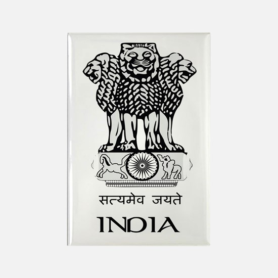 Emblem of India Rectangle Magnet