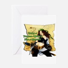 Sexy Pirate Wench Greeting Card
