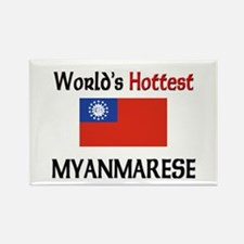 World's Hottest Myanmarese Rectangle Magnet