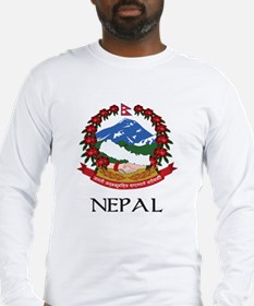 Nepal Coat of Arms Long Sleeve T-Shirt
