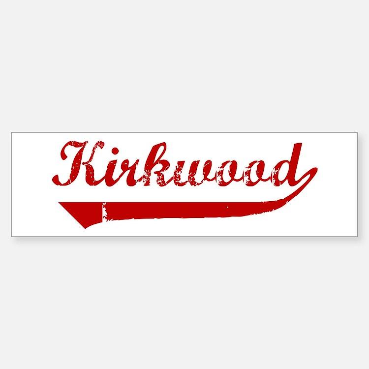 Kirkwood (red vintage) Bumper Bumper Bumper Sticker