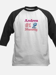 Andrea - #1 Mommy Kids Baseball Jersey