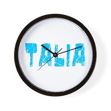 Talia Faded (Blue) Wall Clock