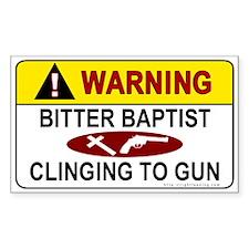 Warning Bitter Baptist Rectangle Decal