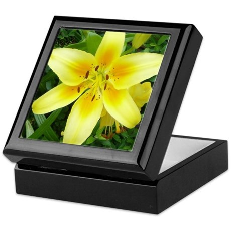 Yellow Flower Keepsake Box
