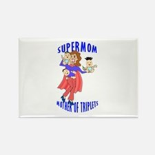 SuperMom_Triplets Rectangle Magnet