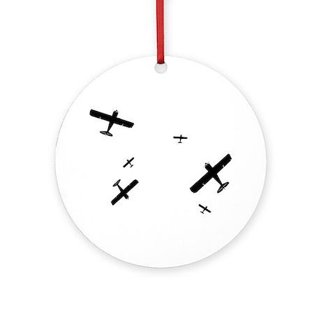 Acrobatic Planes Ornament (Round)