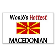 World's Hottest Macedonian Rectangle Decal