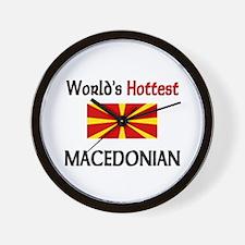 World's Hottest Macedonian Wall Clock