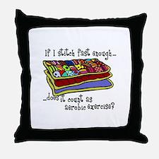 Quilting Aerobics Throw Pillow