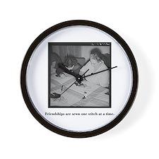 Quilting - Friendship Stitche Wall Clock