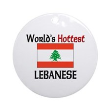 World's Hottest Lebanese Ornament (Round)