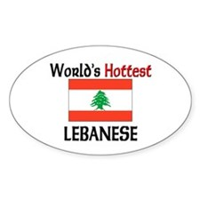 World's Hottest Lebanese Oval Stickers