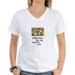 Quilters - Around the Block Women's V-Neck T-Shirt