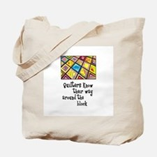 Quilters - Around the Block Tote Bag