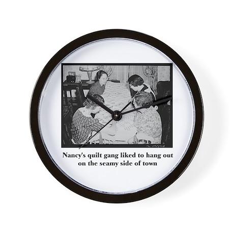 Quilt Gang - Seamy Side Wall Clock