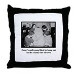 Quilt Gang - Seamy Side Throw Pillow
