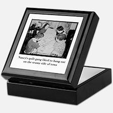 Quilt Gang - Seamy Side Keepsake Box