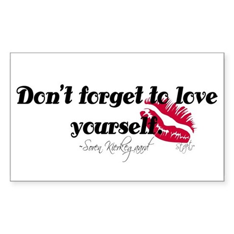 Don't Forget To Love Yourself Rectangle Sticker