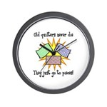 Old Quilters - Go To Pieces Wall Clock