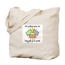 Old Quilters - Go To Pieces Tote Bag