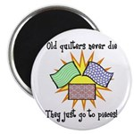 Old Quilters - Go To Pieces Magnet