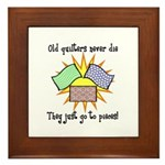Old Quilters - Go To Pieces Framed Tile