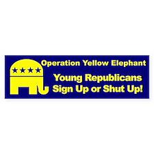OYE - Sign Up or Shut Up Bumper Bumper Sticker