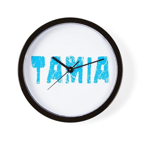 Tamia Faded (Blue) Wall Clock