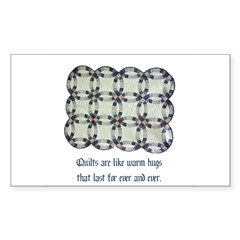 Quilts Are Like Warm Hugs Rectangle Sticker 50 pk