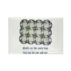 Quilts Are Like Warm Hugs Rectangle Magnet (10 pac