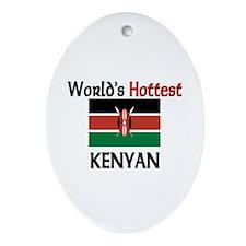 World's Hottest Kenyan Oval Ornament