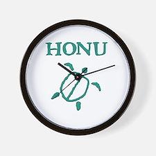 Honu (Turtle) Petroglyph Wall Clock