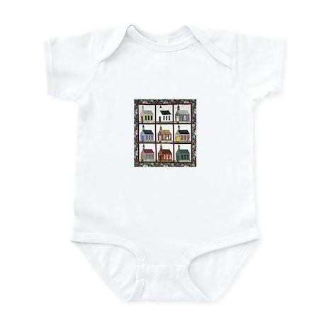 Quilting - Colorful Church Qu Infant Bodysuit