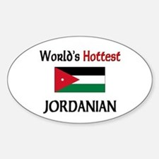 World's Hottest Jordanian Oval Decal