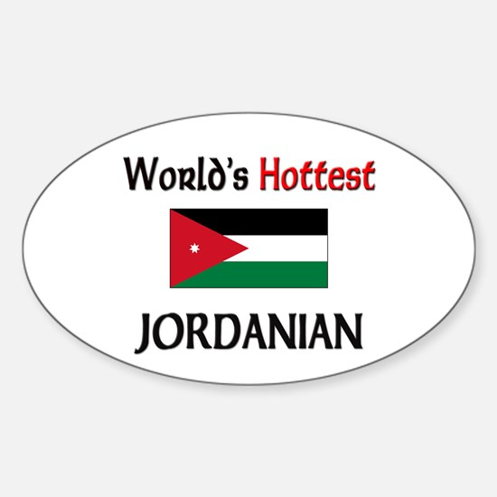 World's Hottest Jordanian Oval Decal
