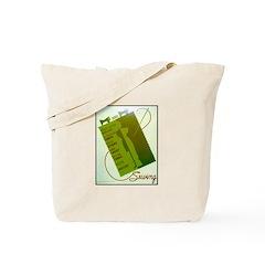 Vintage Sewing WPA Poster Tote Bag