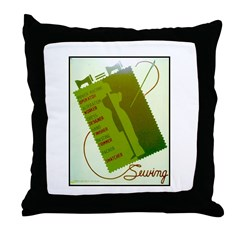 Vintage Sewing WPA Poster Throw Pillow