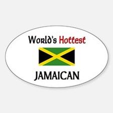 World's Hottest Jamaican Oval Decal