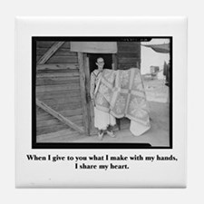 Sewing - From My Hands, My He Tile Coaster
