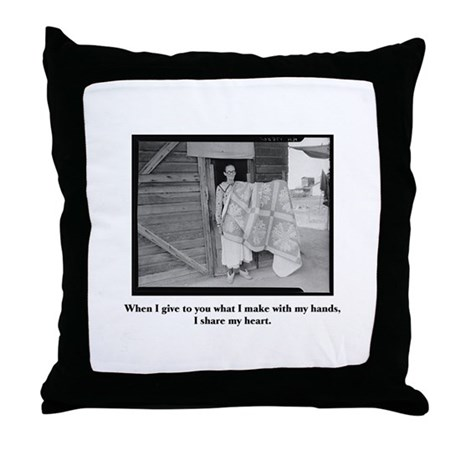 Sewing - From My Hands, My He Throw Pillow