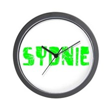 Sydnie Faded (Green) Wall Clock