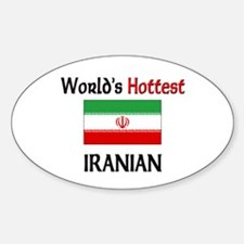 World's Hottest Iranian Oval Decal