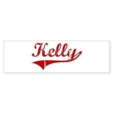 Kelly (red vintage) Bumper Car Sticker
