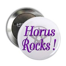 "Horus Rocks ! 2.25"" Button (10 pack)"