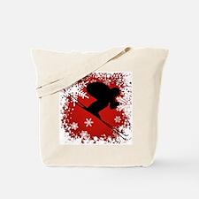 SKI DOWNHILL (RED) Tote Bag