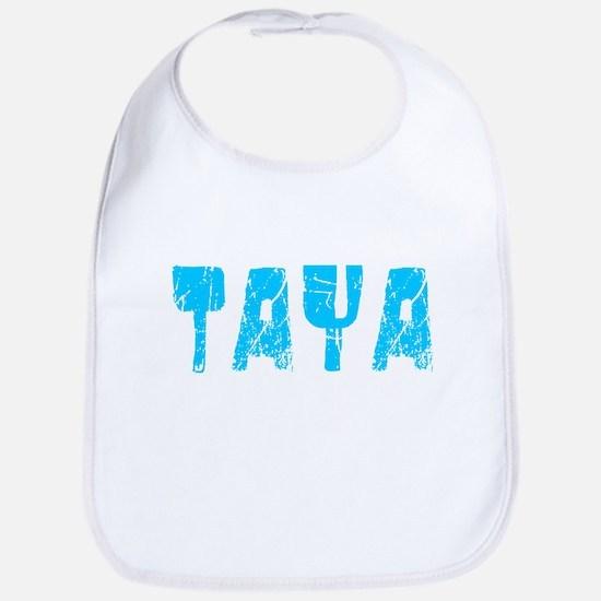 Taya Faded (Blue) Bib