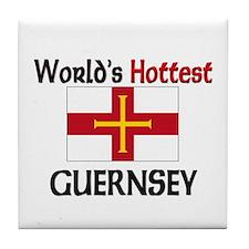 World's Hottest Guernsey Tile Coaster